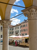 Market and Arches, Post Building, Piazza Dei Duomo, Belluno, Province of Belluno, Veneto, Italy Photographic Print by Frank Fell