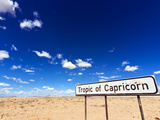 Tropic of Capricorn Sign, Namib Desert, Namibia, Africa Photographic Print by Nico Tondini