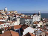 View over Alfama District from Miradouro Das Portas Do Sol, Alfama, Lisbon, Portugal, Europe Photographic Print by Stuart Black