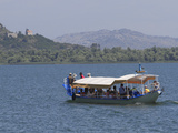 Boat on Skadar Lake, Montenegro, Europe Photographic Print by Rolf Richardson