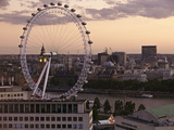 View over London West End Skyline with the London Eye in the Foreground, London, England, UK Photographic Print by Matthew Frost