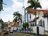 Street Near Praca Minas Gerais with Colonial Buildings and Colegio Providencia, Mariana, Brazil Photographic Print by Yadid Levy