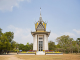 Memorial Monument at the Killing Fields in Phnom Penh, Cambodia, Indochina, Southeast Asia, Asia Photographic Print by Matthew Williams-Ellis