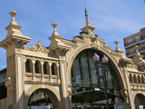 Facade, Central Market Built in 1903, Detail, Zaragoza, Aragon, Spain, Europe Photographic Print by Guy Thouvenin