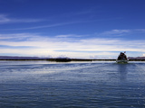 Boat on Lake Titicaca, Peru, Peruviann, Latin America, Latin American South America Photographic Print by Simon Montgomery