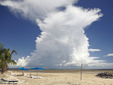 Cumulonimbus Cloud Taken from Nalamu Beach, Vuda Point, Fiji, Pacific Islands, Pacific Photographic Print by Matthew Frost