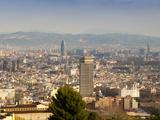 View of Barcelona from Mirador del Alcade, Barcelona, Catalunya (Catalonia) (Cataluna), Spain Photographic Print by Nico Tondini