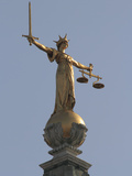 Scales of Justice, Central Criminal Court, Old Bailey, London, England, United Kingdom, Europe Photographic Print by Rolf Richardson