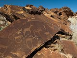 Rock Engravings, Huab River Valley, Torra Conservancy, Damaraland, Namibia, Africa Photographic Print by Sergio Pitamitz