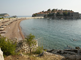 The Small Islet of Sveti Stefan, Now an Exclusive Aman Hotel Resort, Budva, Montenegro, Europe Photographic Print by Matthew Frost