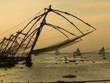Chinese Fishing Nets at Sunset, Kochi (Cochin), Kerala, India, Asia Photographic Print by Stuart Black