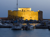 The Harbour and Paphos Fort at Night, Paphos, Cyprus, Mediterranean, Europe Photographic Print by Stuart Black