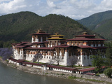 View of the Dzong in Punakha, Bhutan, Asia Photographic Print by Eitan Simanor