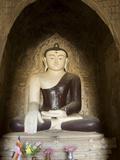 Seated Buddha, Thabeik Hmauk Temple, Bagan (Pagan), Myanmar (Burma), Asia Photographic Print by Richard Maschmeyer