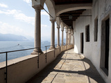 Balcony of Santa Caterina Monastery and Hermitage, Lake Maggiore, Lombardy, Italian Lakes, Italy Photographic Print by Oliviero Olivieri