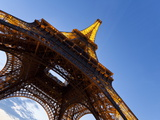 View Upwards from Underneath the Eiffel Tower in Paris, France, Europe Photographic Print by Gavin Hellier