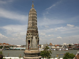Wat Arun Temple (Temple of the Dawn) and Chao Phraya River, Bangkok, Thailand, Southeast Asia, Asia Photographic Print by Godong 