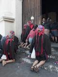 Religious Syncretism, Chichicastenango Market, Chichicastenango, Guatemala, Central America Photographic Print by Antonio Busiello