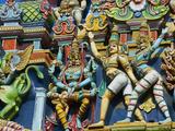 Detail, Sri Meenakshi Temple, Madurai, Tamil Nadu, India, Asia Photographic Print by  Tuul