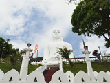 Bahirawakanda Temple Buddha, Kandy, Sri Lanka, Asia Photographic Print by Jochen Schlenker