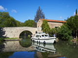 Navigation on Canal du Midi, UNESCO World Heritage Site, Pigasse, Languedoc Roussillon, France Photographic Print by  Tuul