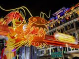 Chinese New Year Celebrations, New Bridge Road, Chinatown, Singapore, Southeast Asia, Asia Lámina fotográfica por Gavin Hellier