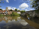 Village and Medieval Bridge over the River Medway, Aylesford, Near Maidstone, Kent, England, UK Photographic Print by Stuart Black