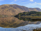 Loch Leven Reflections, Glencoe Village, Scottish Highlands, Scotland Photographic Print by Chris Hepburn