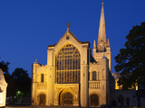 Norwich Cathedral Floodlit at Dusk, Norwich, Norfolk, England, United Kingdom, Europe Photographic Print by Mark Sunderland