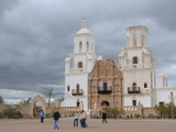 San Xavier Mission, Arizona, United States of America, North America Photographic Print by Robert Harding Productions