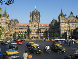 Junction Outside Victoria Terminus, UNESCO World Heritage Site, Mumbai (Bombay), India Photographic Print by Stuart Black