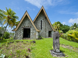 Stone Church on Kvato Island, Papua New Guinea, Pacific Photographic Print by Michael Runkel