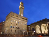 Piazza della Signoria and Palazzo Vecchio, Florence, UNESCO World Heritage Site, Tuscany, Italy Photographic Print by Vincenzo Lombardo