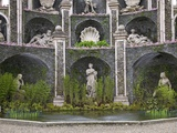 Detail of Water Theatre, Isola Bella Palace Gardens, Borromean Islands, Lake Maggiore, Italy Photographic Print by Peter Barritt