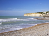 Beach at Cuckmere Haven, East Sussex, South Downs National Park, England, United Kingdom, Europe Photographic Print by Peter Barritt