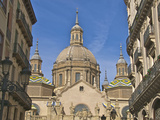 Houses Along Alfonso I Street, and Nuestra Senora del Pilar Basilica, Saragossa (Zaragoza), Spain Photographic Print by Guy Thouvenin
