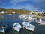 Harbour and Town, Stavros, Donoussa, Cyclades, Aegean, Greek Islands, Greece, Europe Photographic Print by  Tuul