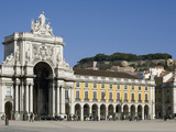 Praca Do Comercio and Castle, Lisbon, Portugal, Europe Photographic Print by Rolf Richardson