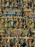 Detail, Sri Meenakshi Temple, Madurai, Tamil Nadu, India, Asia Photographic Print by  Tuul