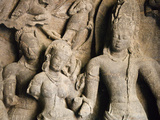 Cave Temple Carving, Elephanta Island, UNESCO World Heritage Site, Mumbai (Bombay), India Photographic Print by Stuart Black