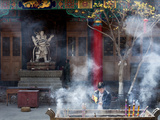 Incense Burning at Yuantong Temple, Kunming, Yunnan Province, China, Asia Photographic Print by Lynn Gail