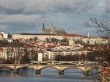 St Vitus Cathedral, Prague Castle, Vltava River, UNESCO World Heritage Site, Prague, Czech Republic Photographic Print by  Godong