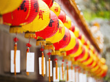 Brightly Coloured Chinese Lanterns at Kek Lok Si Temple, Penang, Malaysia, Southeast Asia, Asia Photographic Print by Matthew Williams-Ellis