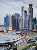 Skyline and Financial District at Dawn, Singapore, Southeast Asia, Asia Photographic Print by Gavin Hellier