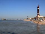 Tower, North Pier and Beach, Blackpool, Lancashire, England, United Kingdom, Europe Photographic Print by Rolf Richardson