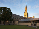Last Light on the Spire at Norwich Cathedral, Norwich, Norfolk, England, United Kingdom, Europe Photographic Print by Mark Sunderland