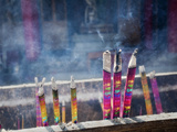 Close-Up of Incense Burning at Yuantong Temple, Kunming, Yunnan Province, China, Asia Photographic Print by Lynn Gail