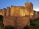 Walls and Towers of Aljaferia Palace, from 11th Century, Saragossa (Zaragoza), Aragon, Spain Photographic Print by Guy Thouvenin