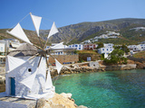 Aigiali Town and Port, Amorgos, Cyclades, Aegean, Greek Islands, Greece, Europe Photographie par  Tuul