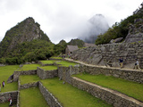 Agricultural Terraces, Machu Picchu, Peru, Lost City of Inca Rediscovered by Hiram Bingham in 1911 Photographic Print by Simon Montgomery